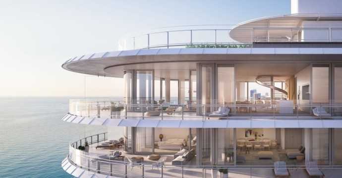 Renzo Piano's first residential project Eighty Seven Park Hover Shot