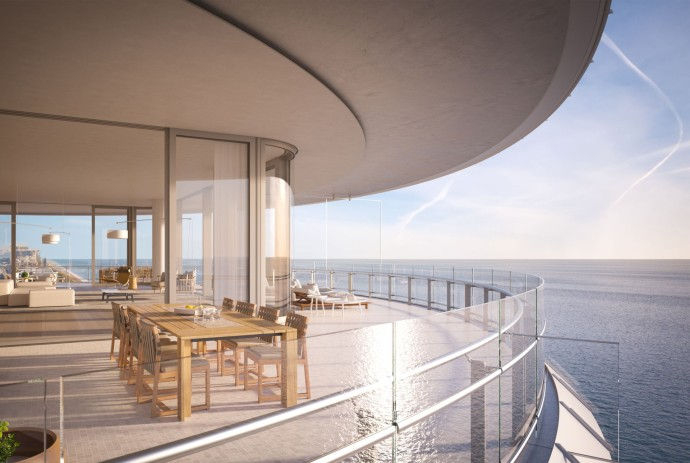 Renzo Piano's first residential project Eighty Seven Park Outside Kitchen