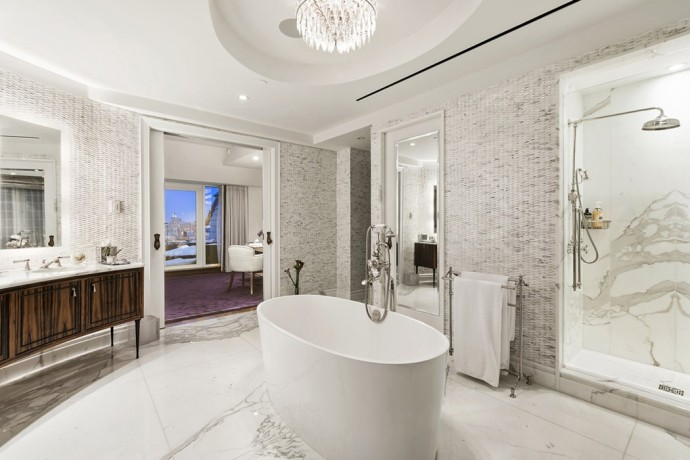 penthouse new york 1 CENTRAL PARK SOUTH APT PH2009 bathroom