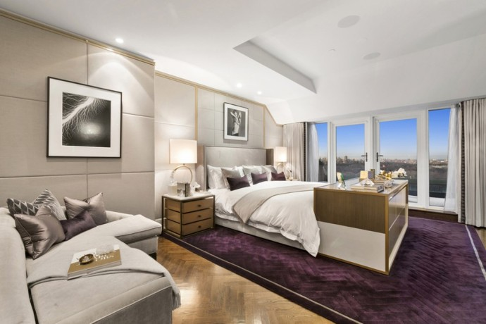 penthouse new york 1 CENTRAL PARK SOUTH APT PH2009 master bedroom