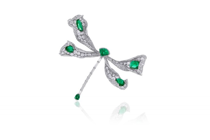 [Image]CINDY CHAO The Art Jewel Emerald Dragonfly Brooch
