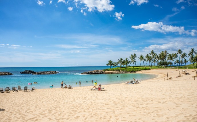 Lagoon beach Hawaii