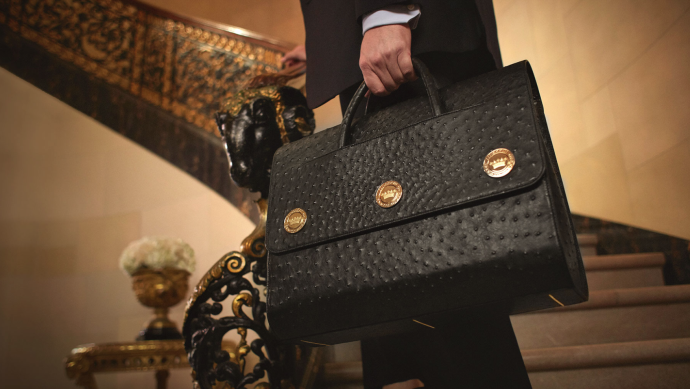 Constantine - Ostrich Attaché - Limited To 30 - US $35,000