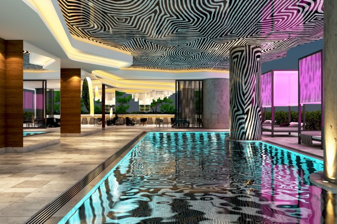 W Brisbane -Pool - Rendering-
