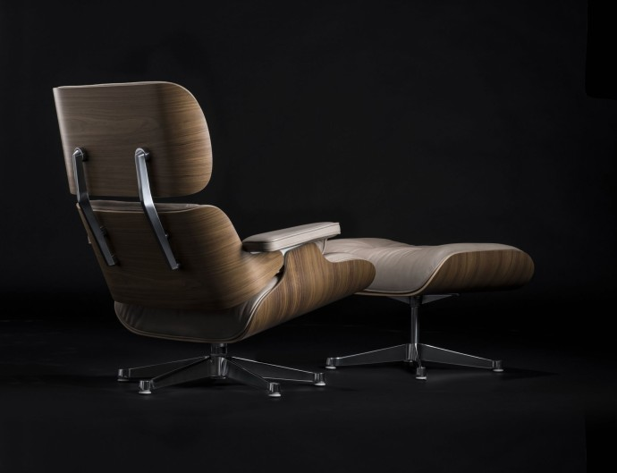 Exclusive 1 of 25 Special edition Eames Lounge Chair & Ottoman White pigmented walnut and dark sand aniline leather_The conran Shop_01