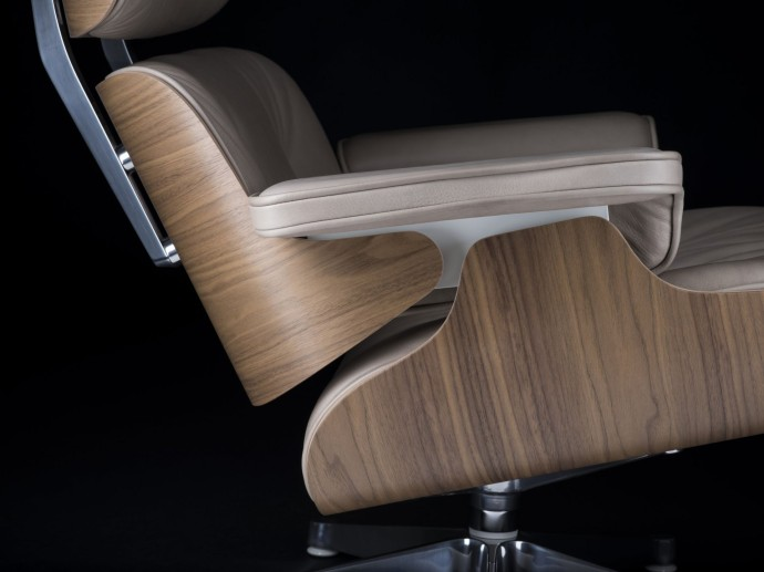 Exclusive 1 of 25 Special edition Eames Lounge Chair & Ottoman White pigmented walnut and dark sand aniline leather_The conran Shop_06