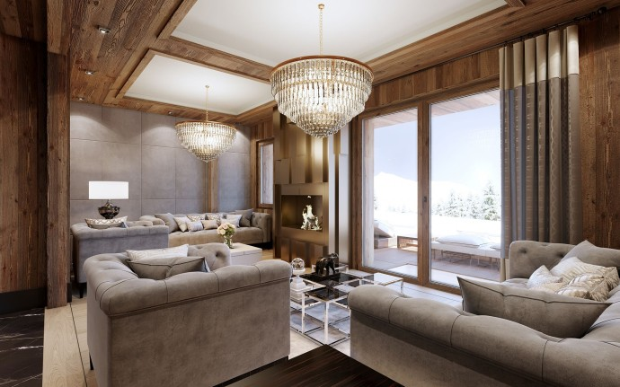Living Room Chalet 2 Ultima Crans-Montana
