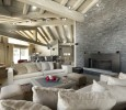 Chalet Abbruzes Courchevel off white interior