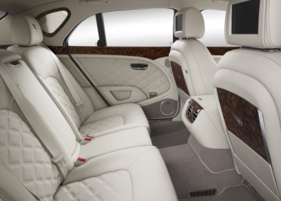 Backseat of the Bentley White Ghost