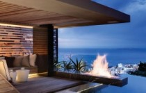 Seaview fireplace luxury
