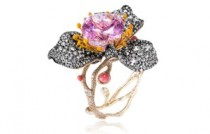 Cindy Chao The Art Jewel - Rose Collection_Kunzite Floral Bangle