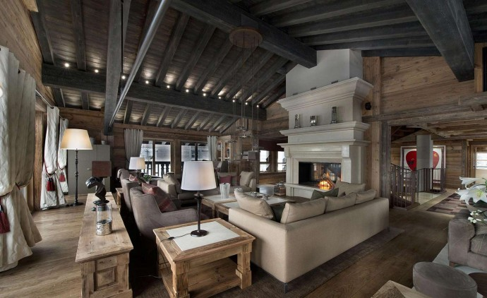 Chalet Edelweiss Courchevel Wood Interior