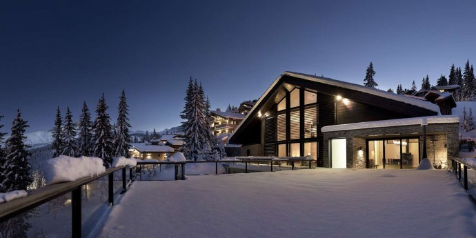 Chalet Greystone Courchevel Snow Exterior