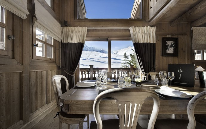 Dining room Chalet Tsuga Courchevel
