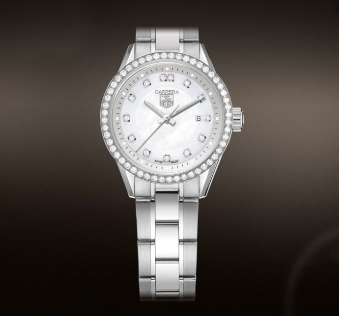 Montre femme luxe Carrera Tag diamants