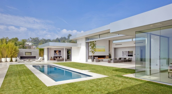 Villa design Beverly Hills House piscine