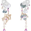 Cerfs-Volants, Van Cleef & Arpels large model earrings, pink gold, pink and mauve sapphires, white gold, mother-of-pearl and diamonds_714784