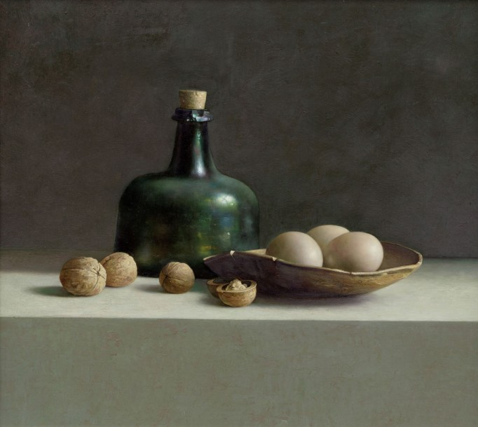 Galerie ArtVera's Geneve 14_Henk Helmantel, Walnuts and eggs, 1999, oil on panel, 45 x 50 cm