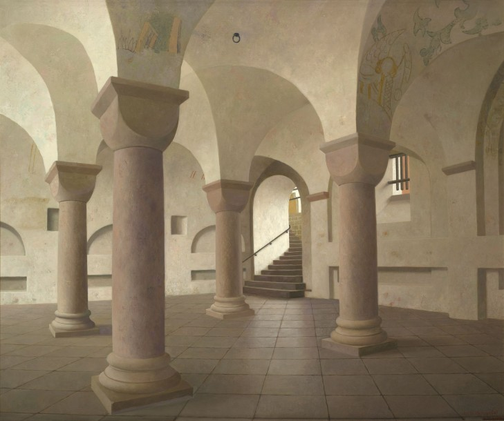 Galerie ArtVera's Geneve 24_Henk Helmantel, Crypt of the St. Lebuinus Church in Deventer, 2015, oil on panel, 116 x 138 cm