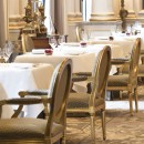 Four Seasons Paris Le Cinq Restaurant 2015 close up chairs