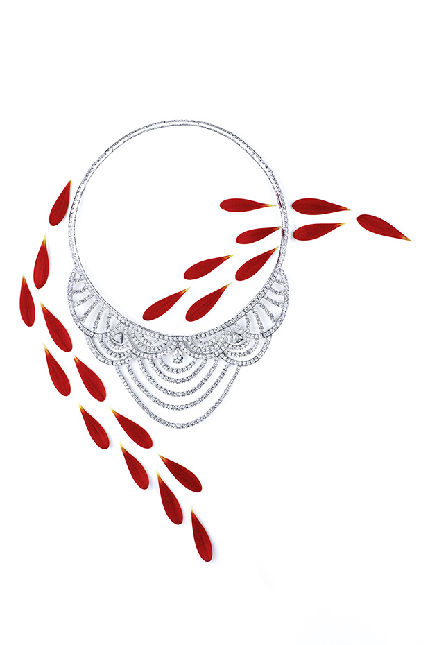 Piaget sunny side of life collier décor diamants